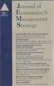 Journal of Economics & Management Strategy